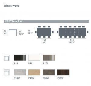 Wings wood